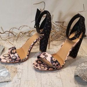 Torrid Polka Dot High Heel Strap Sandal